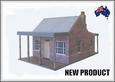 HO Scale Australian WGS Format Saw Tooth Roof Cottage
