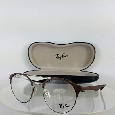 eeaa5ba10d Brand New Authentic Ray Ban RB 3545V Eyeglasses RB3545 2912 Brown Silver  Frame
