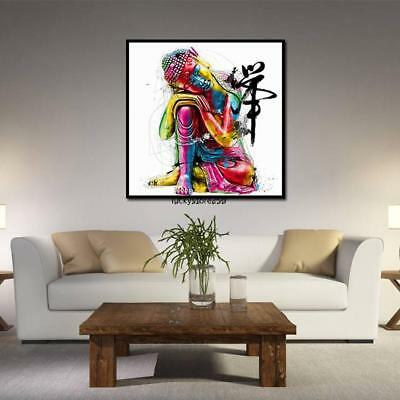 Zen Buddha Pattern Canvas Oil Painting Wall Art Picture Home Decor LKR8 01