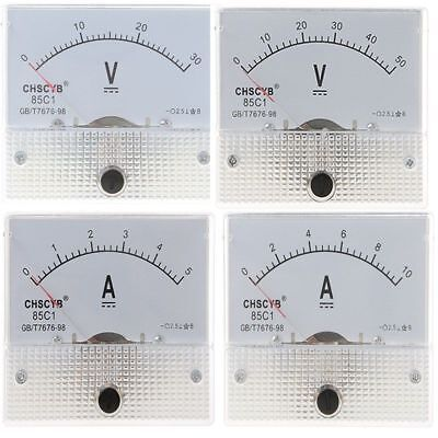 85C1 Amp Panel Meter Current Ammeter From DC 0-5A To DC 0-500A With/(Out) Shunt