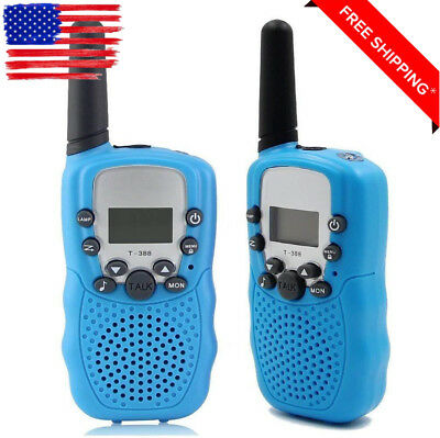 Walkie Talkies for Kids Rechargeable Two Way Radio 2 Pack Batteries Blue