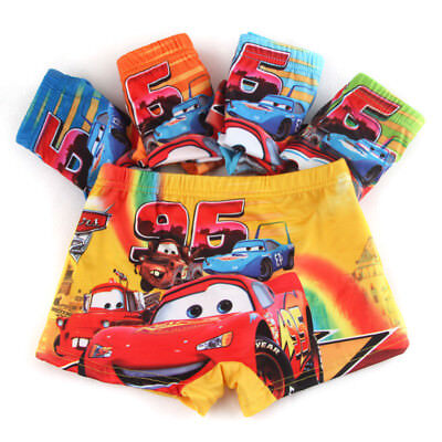 10PCS Cartoon Boys Children Underwear Cotton Car Panties Boxer Brief Kid Clothes
