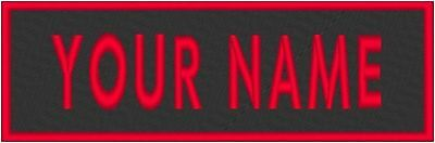 """Custom Embroidered 4"""" x  1.25""""  Name Tag Patch W/ VELCRO® Brand Fastener #1"""