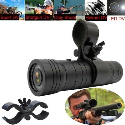 HD1080P Helmet DV Sport Action Cam Shotgun Camera For Rifle Hunting New Gun Clip