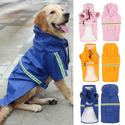 Waterproof Dog Coat Jacket Dogs Raincoat Reflective Dog Raincoat Clothes M-XL