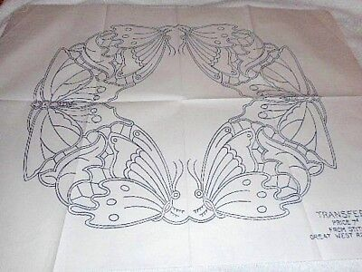Large Vintage Embroidery Iron on Transfer- Stitchcraft N.561 - Butterflies