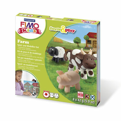 NEU Fimo kids Form&Play Farm, 4 x 42 g, Box