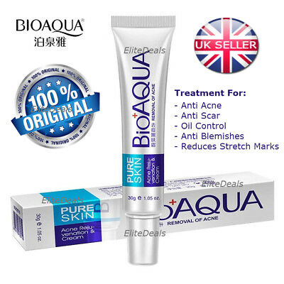 BIOAQUA Pure Skin Anti Acne Scar Blemish Stretch Marks Removal Face Cream 30g UK