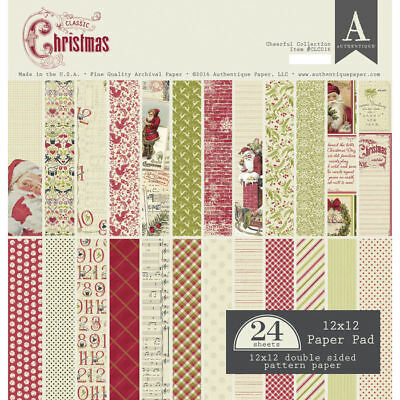 NEU Scrap-Block sort. Classic Christmas, 24 Blatt