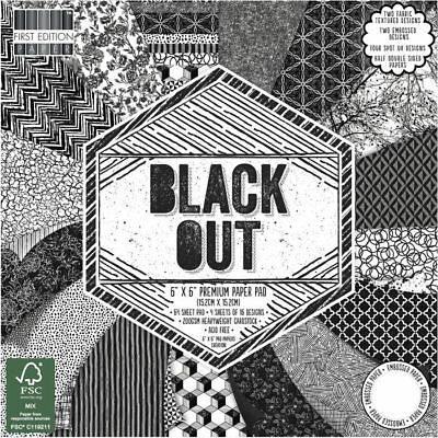 NEU Scrap-Block Black Out, 64 Bogen