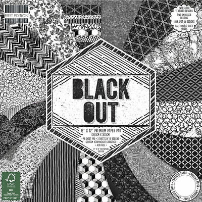 NEU Scrap-Block Black Out, 48 Bogen