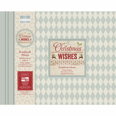 NEU Scrapbook Album Christmas Wishes, 30,5x30,5cm