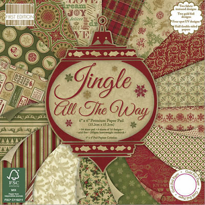 NEU ScrapBlock Jingle all the way, 64 Bogen