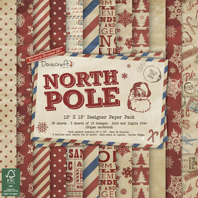 NEU Scrap-Pack North Pole, 36 Bogen