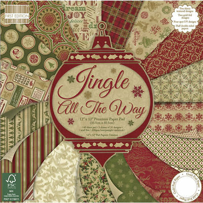 NEU ScrapBlock Jingle all the way, 48 Bogen