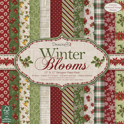 NEU Scrap-Block Winter Blooms, 36 Bogen