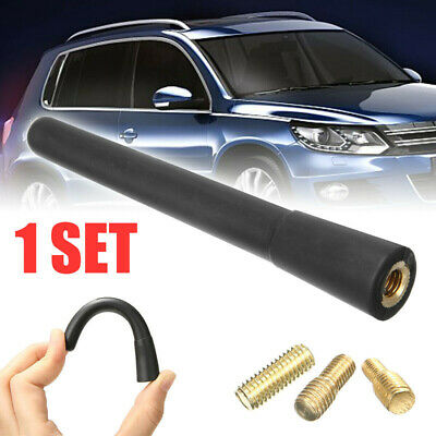 1Set Short Stubby Car Auto Antenna AM/FM Radio Aerial Mast Screw Type Universal
