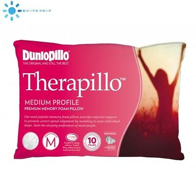 Dunlopillo Therapillo Premium Memory Foam Pillow Medium Profile (new)
