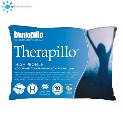 Dunlopillo Therapillo Premium Memory Foam Cooling Gel Pillow High Profile (new)