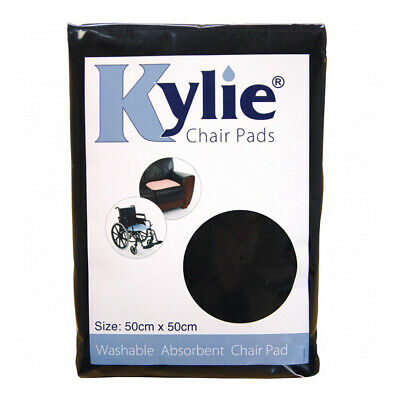 Kylie Washable Chair Pad - Black - 1 Litre Absorbency