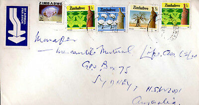 Zambia  Airmail Commercial Cover, Bulawayo to Sydney Australia