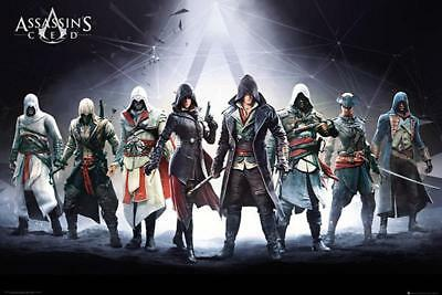 Assassin's Creed Poster Charaktere - Gaming Plakat Querformat 91,5 x 61 cm
