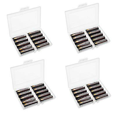 Set of 4 Battery Storage Containers Organizers Case for 10 AA/14500 Batteries