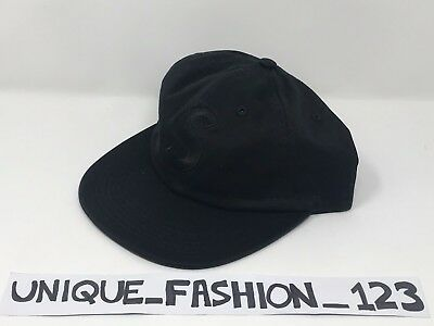 28ee7b6e46c Supreme Tonal S Logo 6 Panel Camp Cap Black Fw17 5 Box Hat Limited Edition