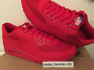 on sale 3f0d9 e9c54 Nike Air Max 90 Hyperfuse Independence Day Usa 11 10 45 Sport Red 613841-660