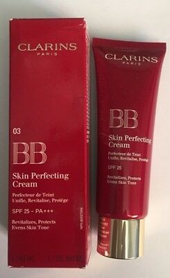 Clarins BB Skin Perfecting Cream 03 Dark SPF 25 45 ML Boxed/ New .. Free Post ..