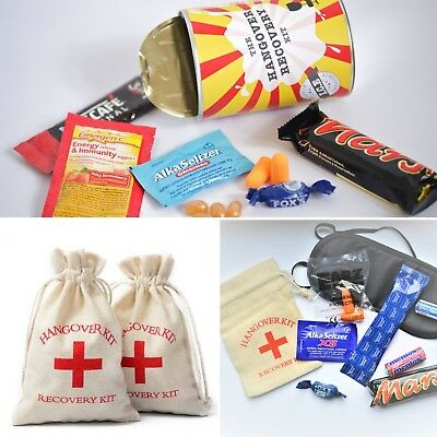 Hangover Recovery Kit / Set / Gag Joke prank Gift bag ~Hen /Stag /wedding