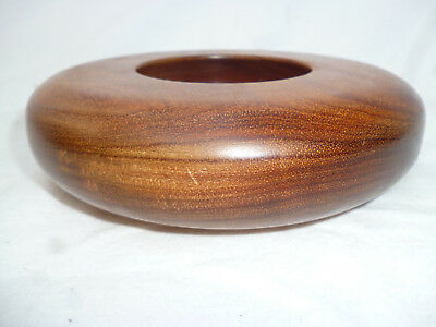 HEAVY TASMANIAN BLACKWOOD TURNED 15cm ROUNDED BOWL - very good condition