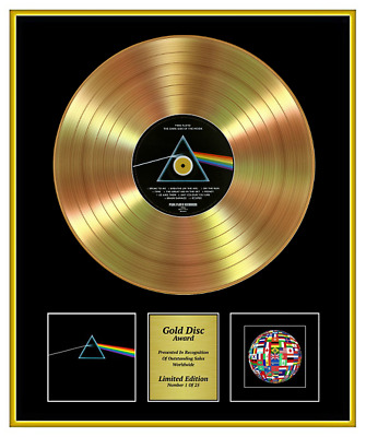 PINK FLOYD CD Gold Disc Record Award THE DARK SIDE OF THE MOON