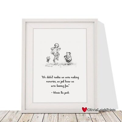 Disney Winnie The Pooh Quote Print-Wall Art-Gift-Nursery Word Art New Baby