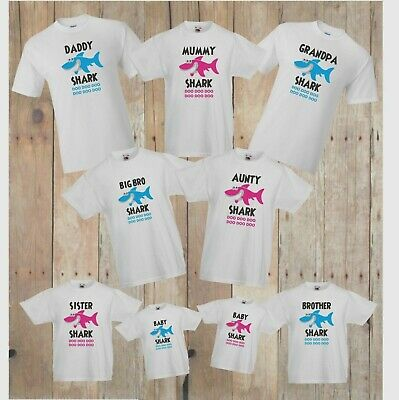 Baby Shark Doo Doo Doo - Mummy, Daddy, Brother Sister Cute Family t-shirts!