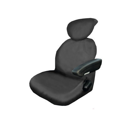 Universal Grammer Tractor Waterproof Fitted Black Seat Covers - Heavy Duty Tough