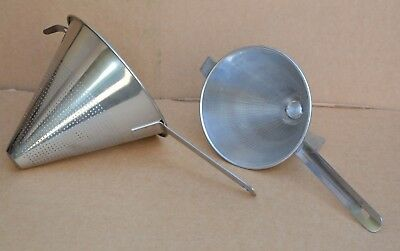 British Army Commercial Catering Stainless Steel Conical Sieve Large or Small