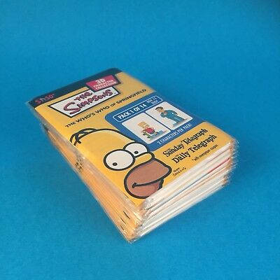 THE SIMPSONS 3D CHARACTER COLLECTION CARDS SET of 14 Daily Mail 2004 Sunday Tele
