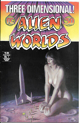 Alien Worlds 3-D #1  Vf With Attached Glasses Inside  Pc  1984  Nice!!!
