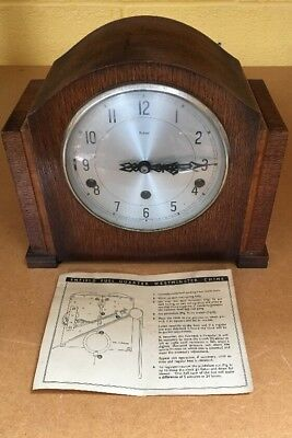 Vintage Smiths - Enfield Mantel Clock with Full Quarter Westminster Chimes