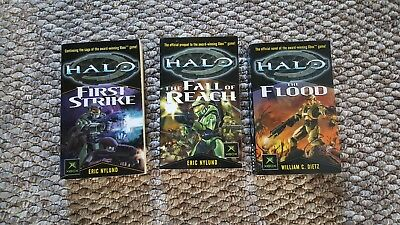 Halo Book Bundle The Fall Of Reach The Flood First Strike Xbox 2004