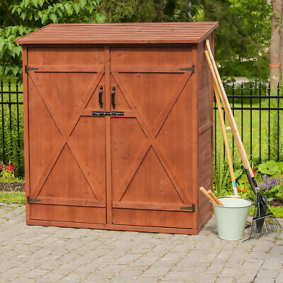 Leisure Season 4 ft. 11 in. W x 2 ft. 7 in. D Wooden Lean-To Tool Shed