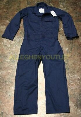 USGI Navy BLUE Utility Coveralls Mechanic Shipboard Uniform MANY SIZES NWT