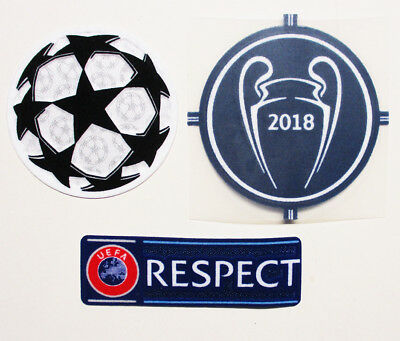Uefa 2018 Champions League Winners Badge + Uefa Respect Badge + Starball Patch