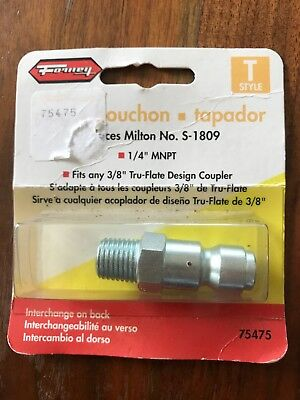 "Forney 75475 Air Fitting Plug, Tru-Flate Style, 3/8"" x 1/4"" Male NPT"