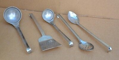 British Army Catering Stainless Steel Utensils Spoons, Ladles, Fish Slice etc...