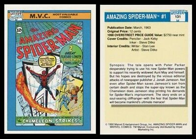 Amazing Spider-Man # 1 1990 Marvel Comics # 131 Trading Card - M.v.c. Series
