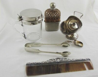 Antique Vintage Carboot silver plate and silver mixed lot