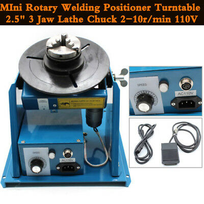 Welding Expert Rotary Welding Positioner Chuck Turntable Table Lathe 110V 3 Jaw