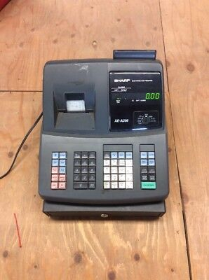 Sharp Xe-A206 Electronic Cash Register Tested Works Good